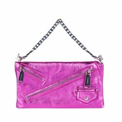 DSQUARED2 CLUTCH BABE WIRE LAMINATED LEATHER WOMAN BAG