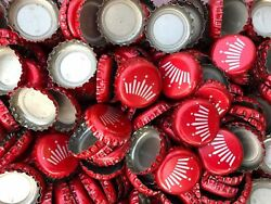 1,000 Red Budweiser Crown Beer Bottle Caps, No Dents, Free Fast Shipping