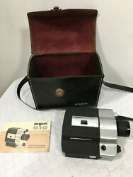 Argus 810 Super Eight Movie Camera With Travel Case And Booklet