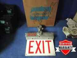 Crouse Hinds Exl23 Explosion Proof Exit Sign Electric Light Fixture 120vac Nib