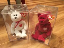 Extremely Rare Valentino And Valentina Ty Beanie Babies With Errors On Both