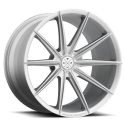 19 Blaque Diamond Bd11 Silver Concave Wheels Rims Fits Ford Mustang