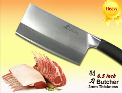 Japanese Steel Chef's Butcher Knife 6.5 Chopper 3mm Thickness Cookware Cutlery