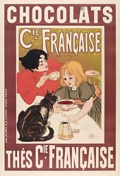 Original Vintage Poster - Théophile Steinlen - Chocolate and Tea - Cats - 1895