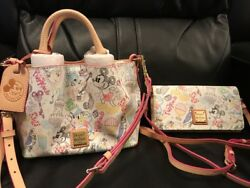 Disney Dooney And Bourke Walk In The Park Minnie Barlow Purse And Wallet Set