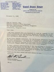 Signed Typed Letter From Sen. Mitch Mcconnellky To Lobbyist John Rector Esq.