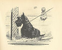 MORGAN DENNIS SCOTTISH TERRIER SCOTTIE WITH POEM 1938 ART PRINT DOG BONUS GIFT