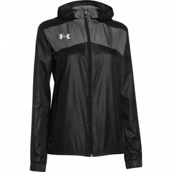 Under Armour Womenand039s Futbolista Shell Jacket Black 1270785 Black Loose Fit