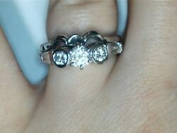 14k White Gold Diamond Ring With Band 146358