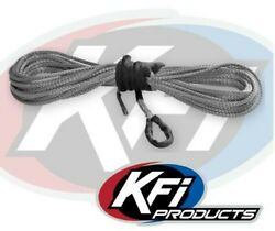 Kfi Products Syn25-b50 1/4 X 50' Smoke Synthetic Atv Winch Cable 4000-5000lb