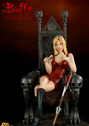 Buffy Sideshow Exclusive Throne Of Slayer Maquette Statue 287/400 Rare W/scythe