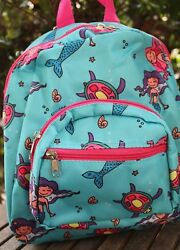 Small MERMAID BACKPACK School Bag Travel Beach Play Tote Girls Adult NEW $10.95
