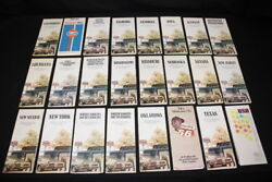 Vintage Lot Of 26 Early 1970and039s Texaco Oil Road Maps Cities Of The United States