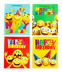Gift Bag Smiley Emoji for Birthday Party Large Size 10.2quot; x 4.9quot; x 12.6#x27;#x27; $5.83
