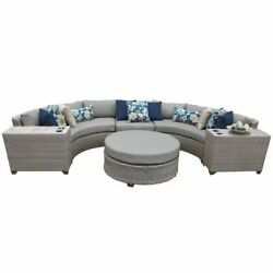 Tk Classics Florence 6 Piece Patio Wicker Sectional Set 06c In Gray