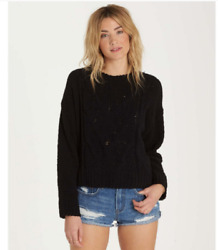 Women's Billabong All Mine Chenille Sweater Relaxed Fit Sweatshirt, New Size S