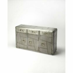 Butler Specialty Industrial Chic 3 Drawer Sideboard In Gray