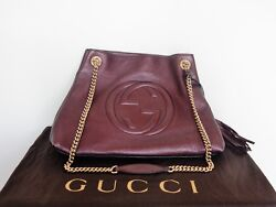 Exquisite GUCCI Soho Shoulder Bag - Burgundy