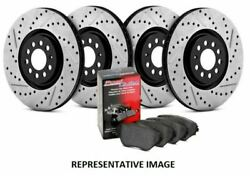 Stoptech Street Axle Pack Brake Kit, Drilled & Slotted, 4 Wheel - 935.42013