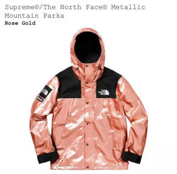 Supreme X The Parka Rose Gold Size Medium In Hand Ready To Ship Tnf