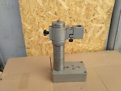 Indicator Micrometer Microscope Stand Clibrate Vintage