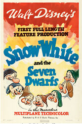 Poster Snow White and the Seven Dwarfs 1937 Style A 27