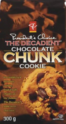 Presidents Choice The Decadent Chocolate Chunk Cookie Truly Canadian 6 Bags