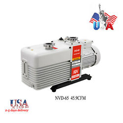 US NICHWELL NVD-65 45.9cfm Corrosion-Resist Commercial Vacuum Grade 2-Stage Pump