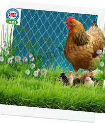 Poultry Netting 8' Baby Chicks Chickens Quail Duck Pen Protective Plant Net 1