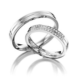 Platinum His And Hers Matching Wedding Bands, Mens And Womens Platinum Wedding Rings