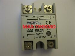 Ssr Maxtech 60a Input 3-32vdc Out 24-380vac Solid State Relay 60a