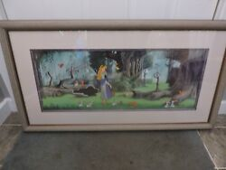 DISNEY SLEEPING BEAUTY LIMITED EDITION CEL 80500 FROM 1992 BEAUTIFUL PIECE!