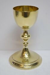 + All Sterling Silver Knights Of Columbus Chalice + 8 Tall + Cu574