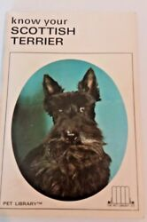 Vintage Know your Scottish Terrier Book Color photos of Scottish Terrier Dog