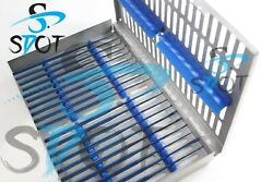 Rhoton Micro Dissector Expanded 20 Pcs Set Blue Steel Case Sdot