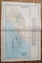 Antique Colored Map Of Great Bend - Pennsylvania / A. Pomeroy And Co. 1872