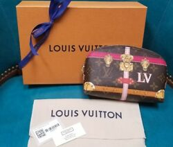 2018 LOUIS VUITTON SUMMER TRUNK COSMETIC POUCH MAKEUP BAG PURSE LIMITED EDITION