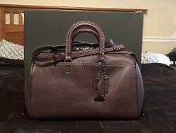 NWT Coach Glovetanned Pebble Leather Rogue 36 Satchel Bag 58119 Oxblood ~ $999