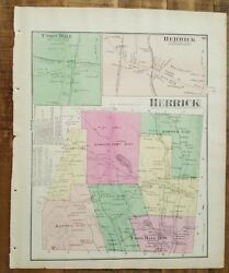 Antique Colored Map Herrick And Union Dale, Pennsylvania / A. Pomeroy And Co. 1872