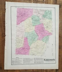 Antique Colored Map Gibson, Pennsylvania / A. Pomeroy And Co. 1872