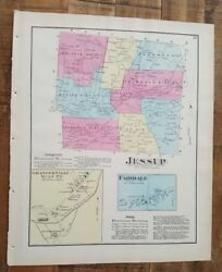 Antique Colored Map Jessup And Fairdale, Pennsylvania / A. Pomeroy And Co. 1872
