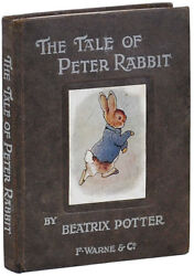 Beatrix Potter-THE TALE OF PETER RABBIT [1902]-1ST TRADE ED1ST PRINT-VG+ WCASE