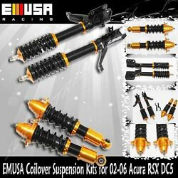 Coilover Suspension Lowering Kits Gold For 02-06 Acura Rsx Base/type-s Coupe 2d