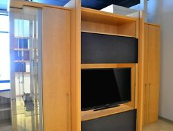 Entertainment Center TV Stand Custom Cabinetry Storage Wall Unit Display