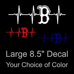 Boston Red Sox Heartbeat Vinyl Decal Sticker Large 8.5 x 2.75 Inch Your Pick
