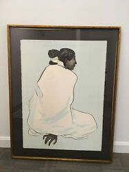 Signed And Framed R.c Gorman Zonnie Native American Indian Painting 33/70