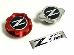 Red Racing Cnc Billet Oil Cap And Radiator Cap Kit For Nissan 350z 370z 300zx
