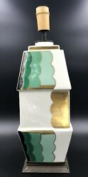 Rare French Aladin Luxe Art Deco Porcelain And Bronze Mount Lamp Ca 1920
