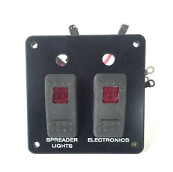 Switch Panel 2 Red Lighted Switchs Spreader Lights / Electronics Switch Panel