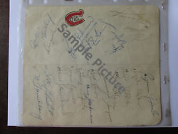 Montreal Canadian 1972-73 Hockey Team Autograph Page